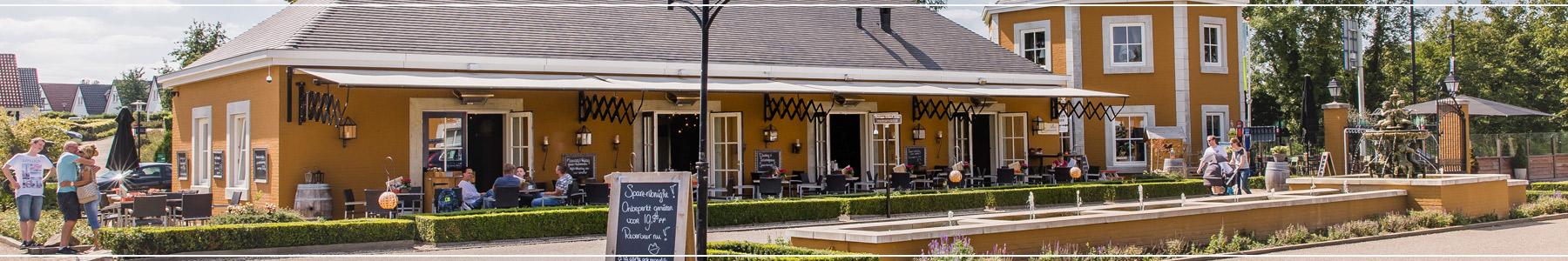 Slider met een afbeelding van het restaurant